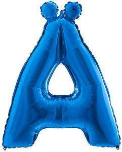Bokstavsballong - Ä Blå 100 cm