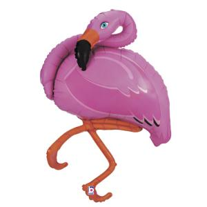Folieballong - Pink Flamingo Shape