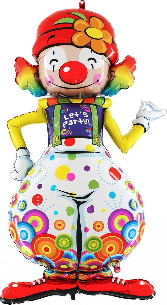 Folieballong - Party Clown