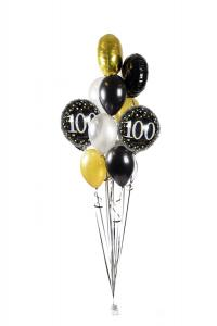 Ballongbukett - Happy Birthday Sparkling 100