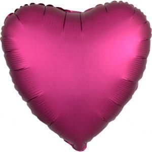 Hjärta Satin Pomegranate