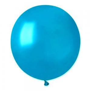 Latexballonger - Metallic Blå Runda 48 cm 10-pack