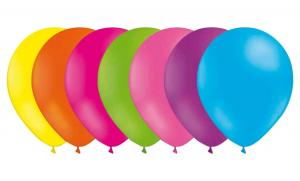 Latexballonger Enfärgade - Påskmix - Glada vårfärger 25-pack