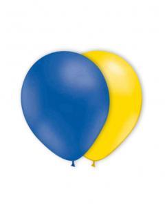 Gula och blå ballonger