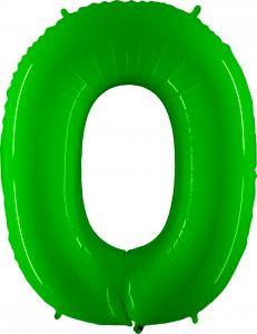 Ballongsiffra - Noll Lime Shiny 100 cm