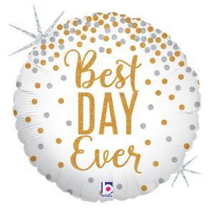 Folieballong - Best Day Ever 45 cm