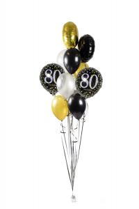 Ballongbukett - Happy Birthday Sparkling 80