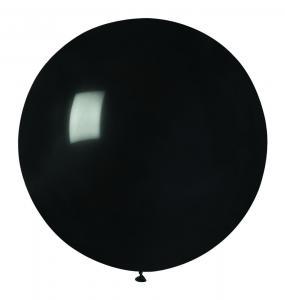 Latexballong - Svart Rund 80 cm
