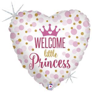 Folieballong - Welcome Little Princess 45 cm
