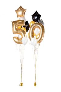 Ballongbukett - Happy Bday 50 Guld