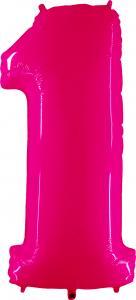 Ballongsiffra - Ett Rosa Shiny 100 cm