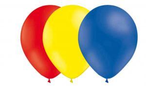 Latexballonger Kombo - Röd-Ljusgul-Blå 15-pack