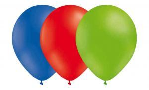 Latexballonger Kombo - Röd-Limegrön-Blå 15-pack