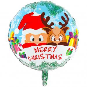 Folieballong - Jultomte med ren