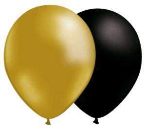 orange och svarta ballonger