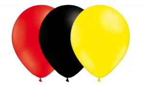 Latexballonger Kombo - Röd-Svart-Ljusgul 15-pack