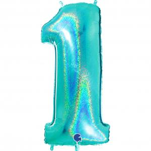 Ballongsiffra - Ett Glitter Tiffany 100 cm