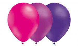Latexballonger kombo - Ljuslila-Lila-Magenta 15-pack