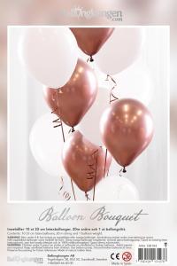 Balloon Bouquet - Rose Gold/Chrome