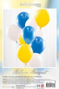 Balloon Bouquet - Gul & Blå