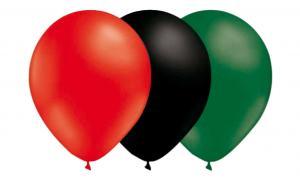 Latexballonger Kombo - Röd-Svart-Mörkgrön 15-pack
