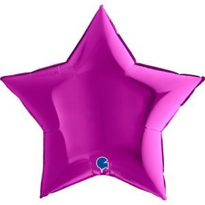 Folieballong - Stjärna Lila 91 cm
