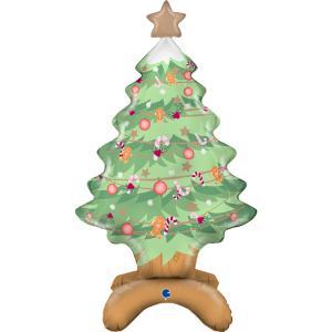 Folieballong - Standup Christmas Tree 97 cm