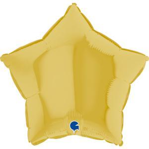 Folieballong - Stjärna Pastellgul 45 cm