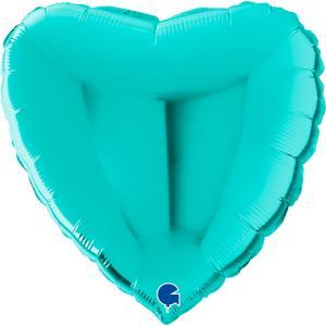 Folieballong - Hjärta Tiffany 56 cm