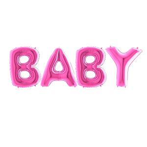 Ballonggirlang - BABY Rosa 100 cm