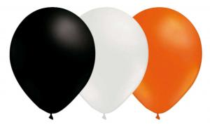 Ballongkombo - Svart-Vit-Orange 15-pack