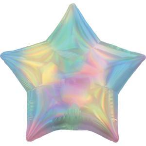 Folieballong - Stjärna Rainbow 43 cm