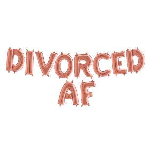 Ballonggirlang - DIVORCED AF Rose Gold 35 cm