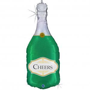 Folieballong - Champagneflaska Cheers 91 cm