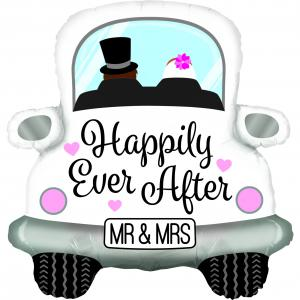 Folieballong - Happily Ever After Car Shape 79 cm