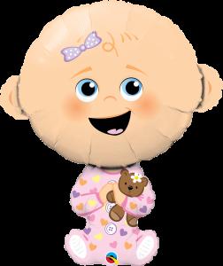 Folieballong - Baby Girl 96 cm