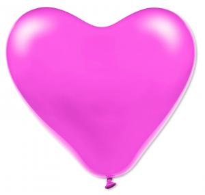 Rosa hjärteballonger