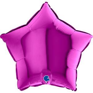 Folieballong - Stjärna Lila 45 cm