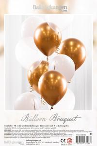 Balloon Bouquet - Gold/Chrome
