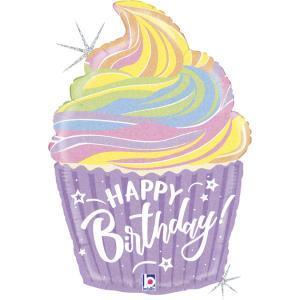 Folieballong - Pastel Birthday Cupcake 69 cm