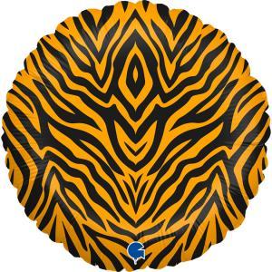 Folieballong - Tiger Striped 45 cm