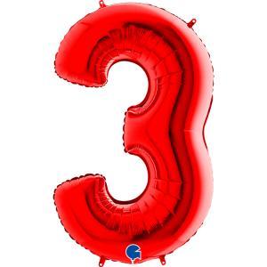 Sifferballong Tre Röd