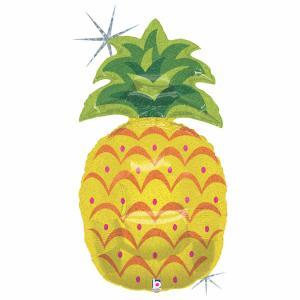 Folieballong - Sparkling Pineapple Shape 94 cm