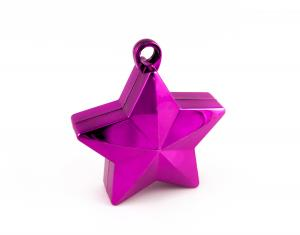 Ballongtyngd - Stjärna Magenta 170g