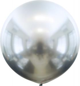 Latexballonger - Silver Chrome 60 cm 2-pack