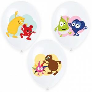 Vinröda latexballonger
