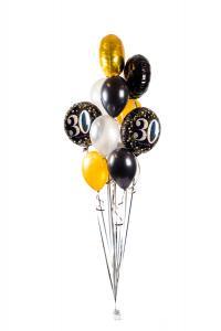 Ballongbukett - Happy Birthday Sparkling 30