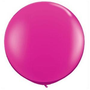 Latexballong - Magenta Rund 80 cm