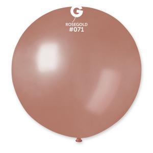 Latexballong - Rose Gold Rund 80 cm