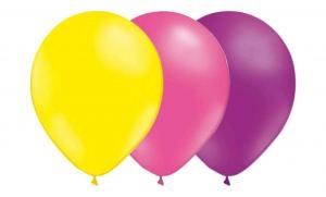 Latexballonger Kombo - Ljusgul-Rosa-Ljuslila 15-pack